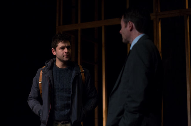 Benjamin Blyth as Linus and Clive Moore as Simon in  In Doggerland.  Photo by Devin Ainslie.