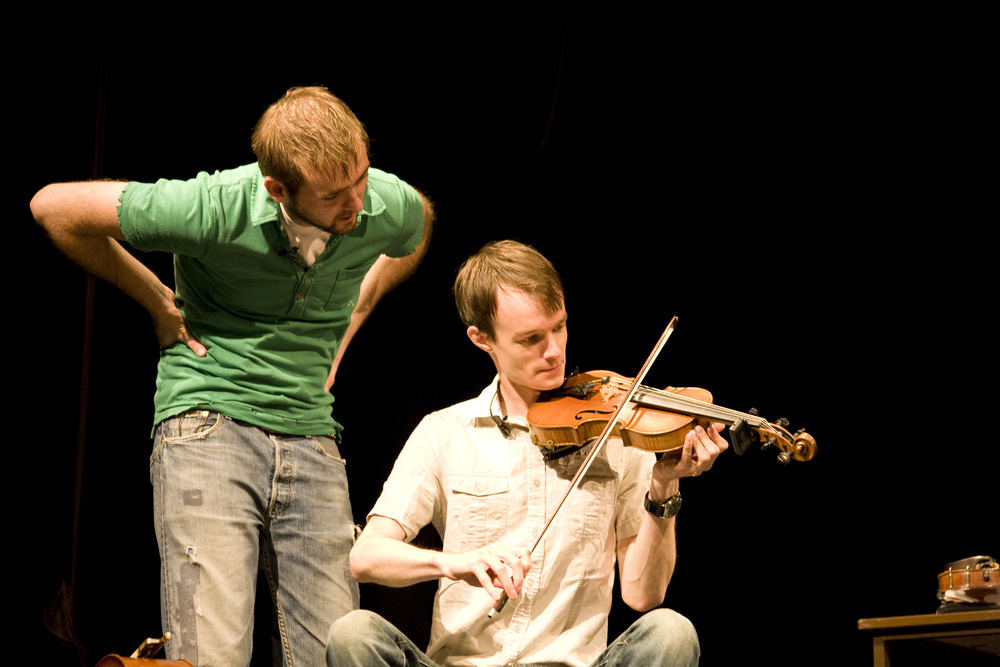 Liam Gerrard and Andrew Mathys in  Blunderbuss.  Photo by Jenny Aston.