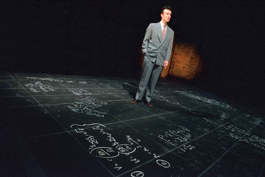 John Heffernan as J Robert Oppenheimer in   Oppenheimer  . Photo by Keith Pattison.