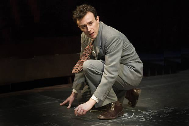 John Heffernan as J Robert Oppenheimer. Photo by Alastair Muir for the Evening Standard,
