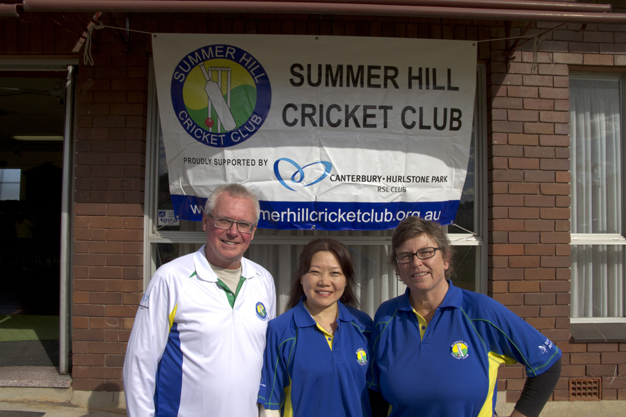 (Pictured Above Left to Right: Glenn Holdstock - Club Coach, Councillor Jeanette Wang - Cricket Ambassador, and Anne Shields - President)