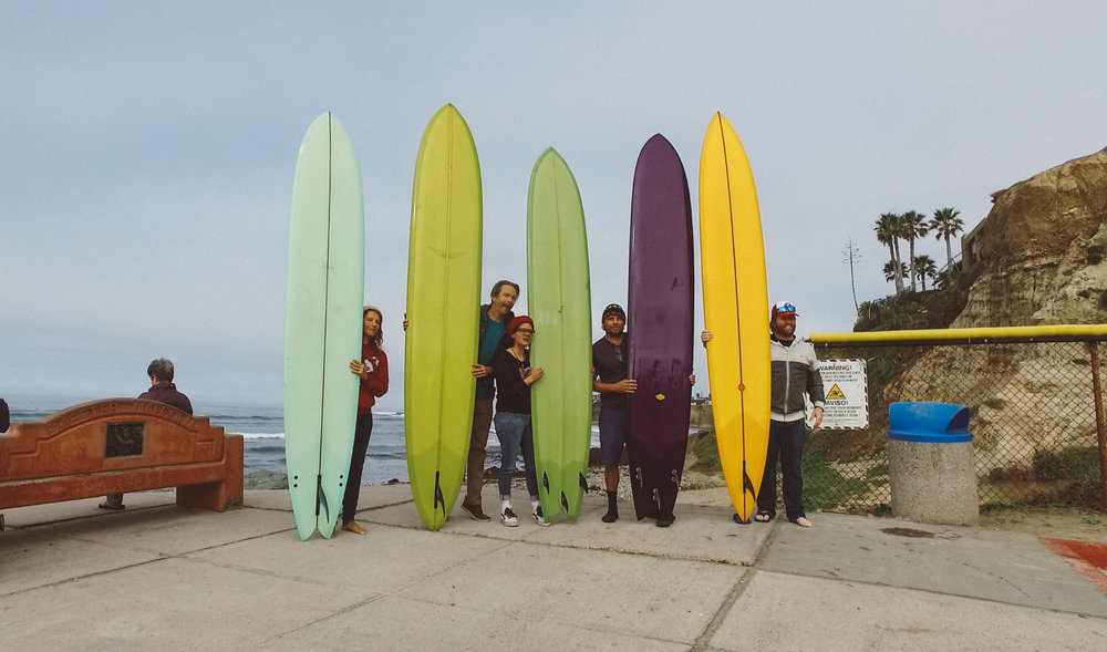 IAMSURF-Filmfestival-GLORYOFTHEGLIDE-TGOTG cast pose big boards.jpg