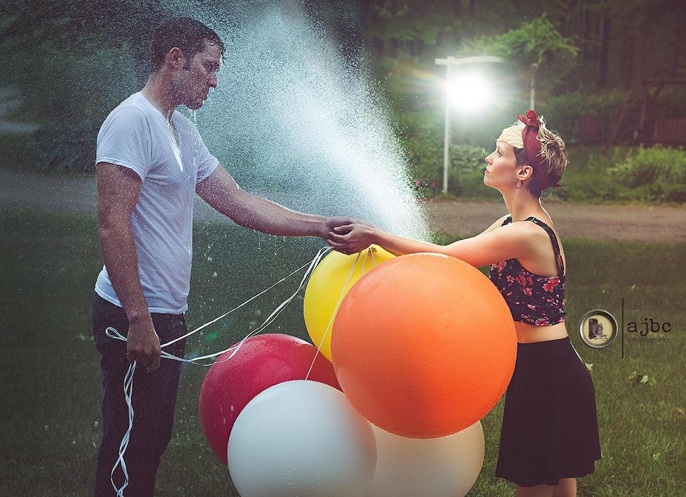 ajbc photography artistic port huron michigan portrait photographer rain balloons love