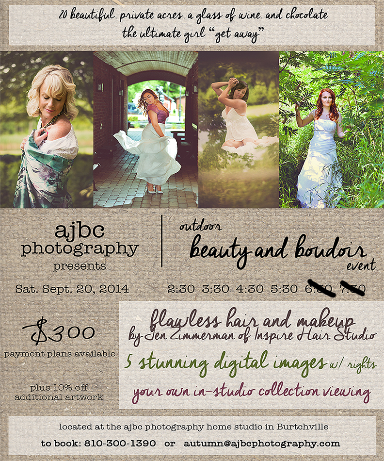 boudoir beauty port huron photographer ajbc photography