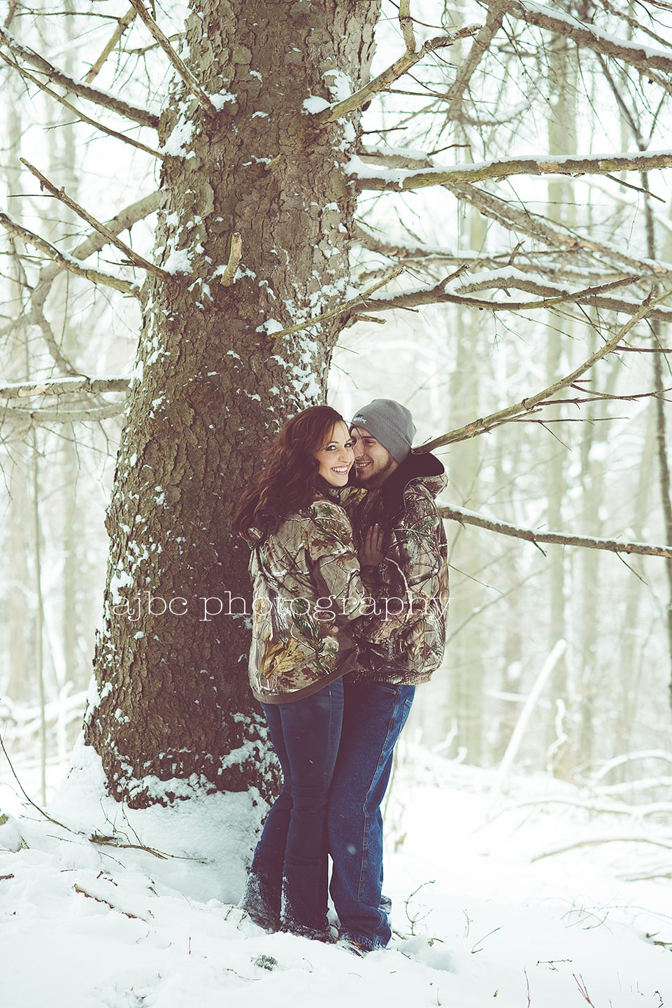 Winter Couple Session Camo Snow.jpg