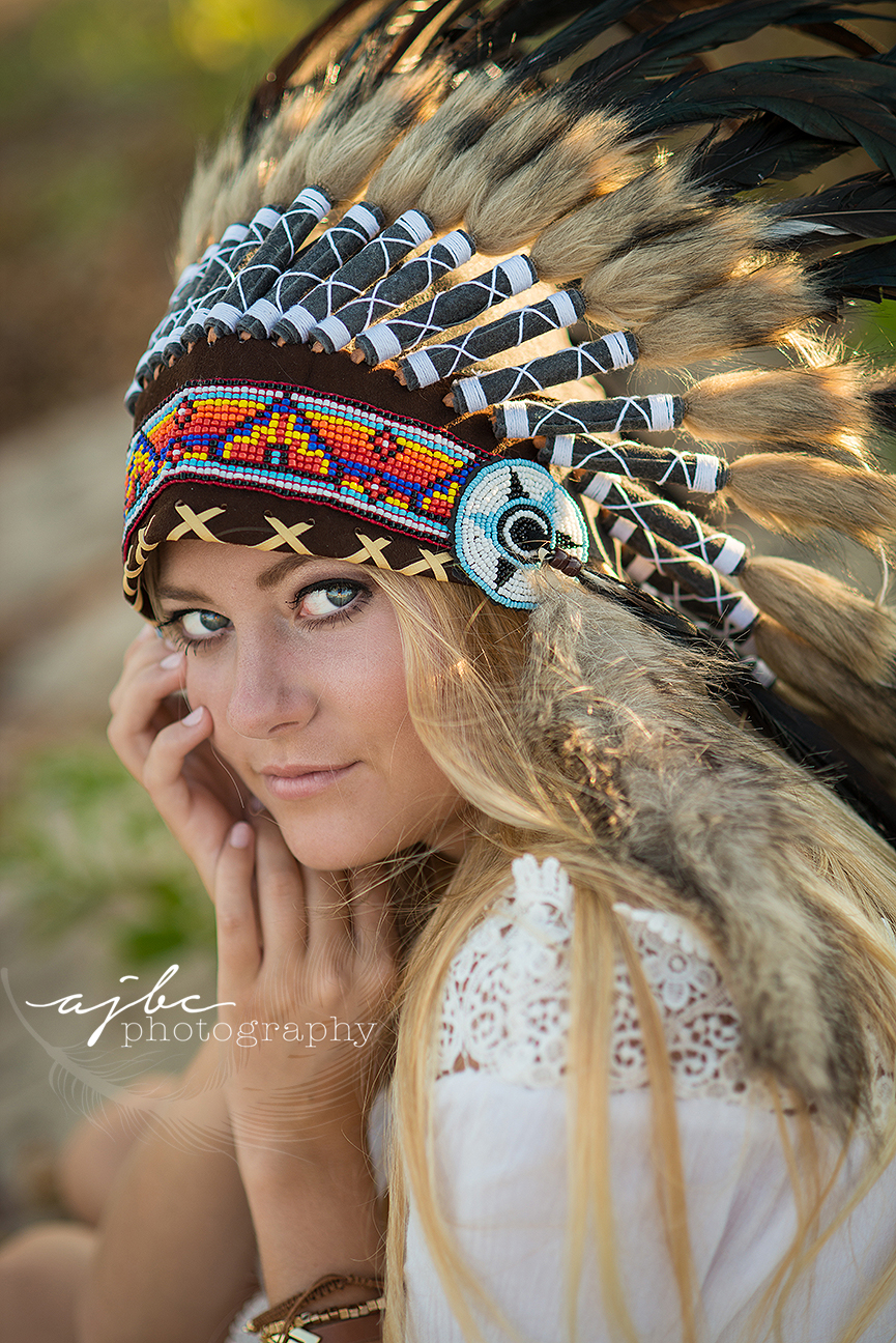 michigan senior photographer beauty photoshoot indian head piece.jpg