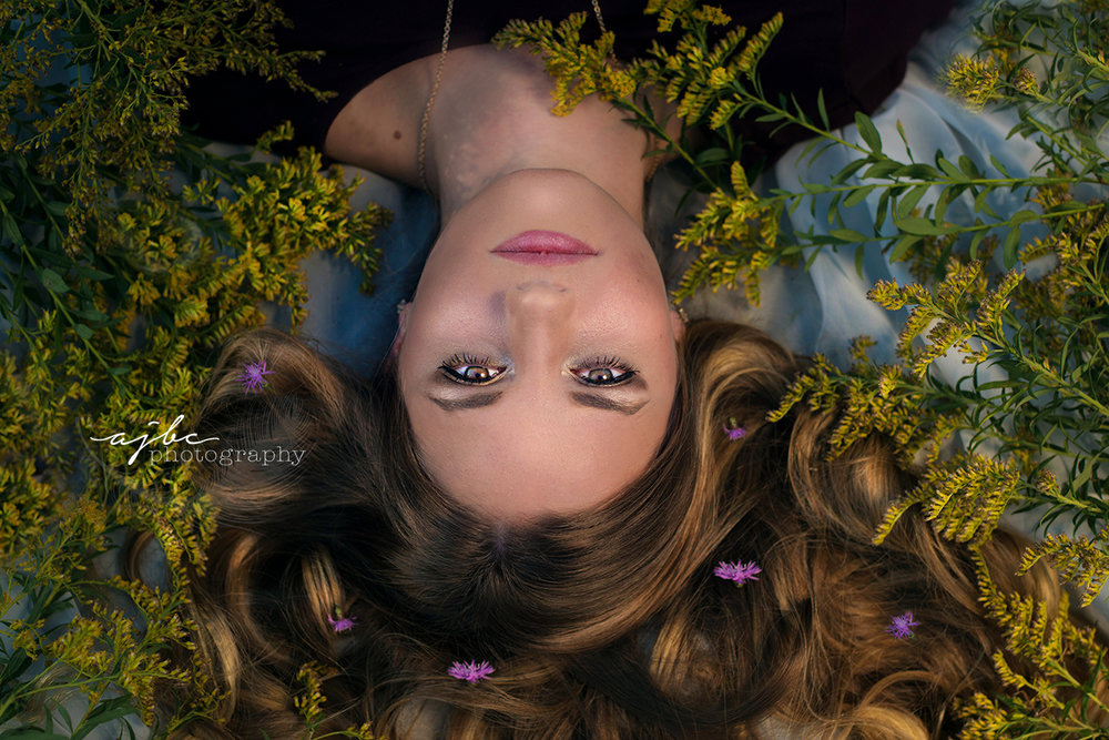 michigan senior photographer wild flowers summer photoshoot.jpg