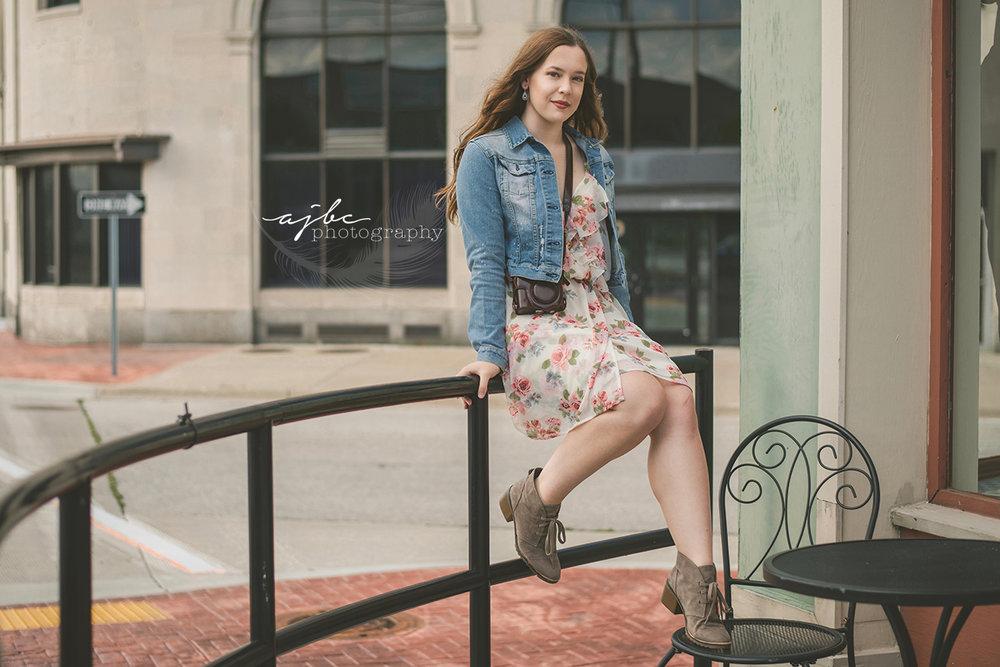 downtown coffee shop senior photoshoot michigan senior photographer.jpg