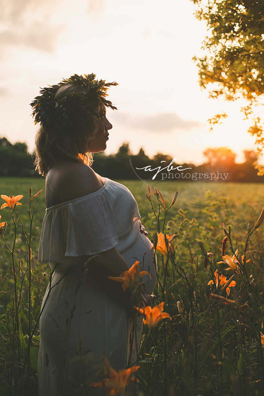 sunset golden hour maternity session port huron michigan maternity photographer.jpg
