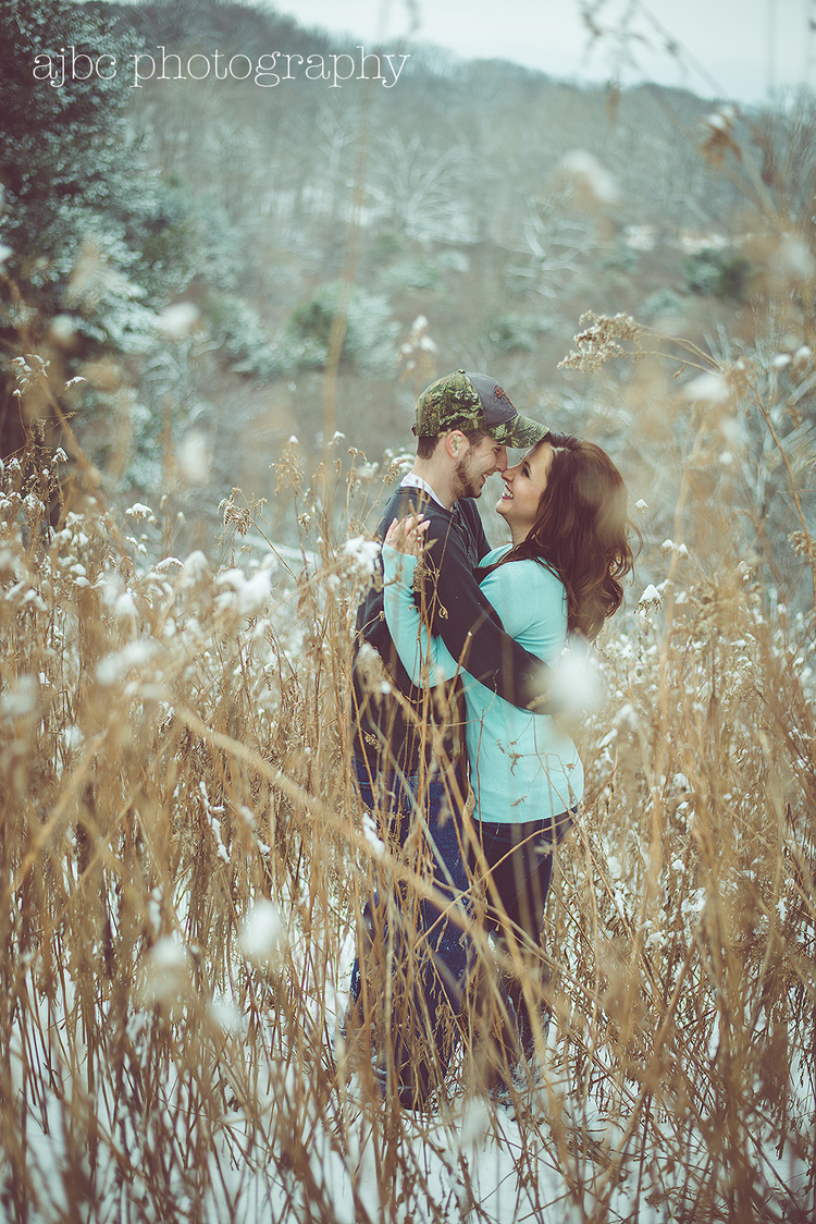 ajbcphotography-porthuron-michigan-photographer-engagement-snow-love-woods-country-barn-1.jpg