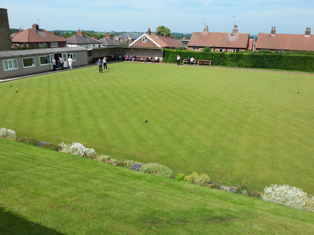 Looking good and performing well with the help of Terralift Fertilisers at Knaresborough Bowling Club.