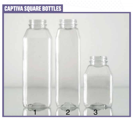 We can print on any square bottle:                                1) 16oz  •  2) 12oz  •  3) 8oz