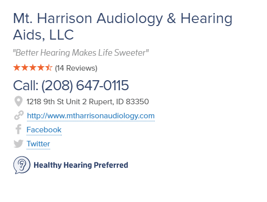 Healthy Hearing Profile