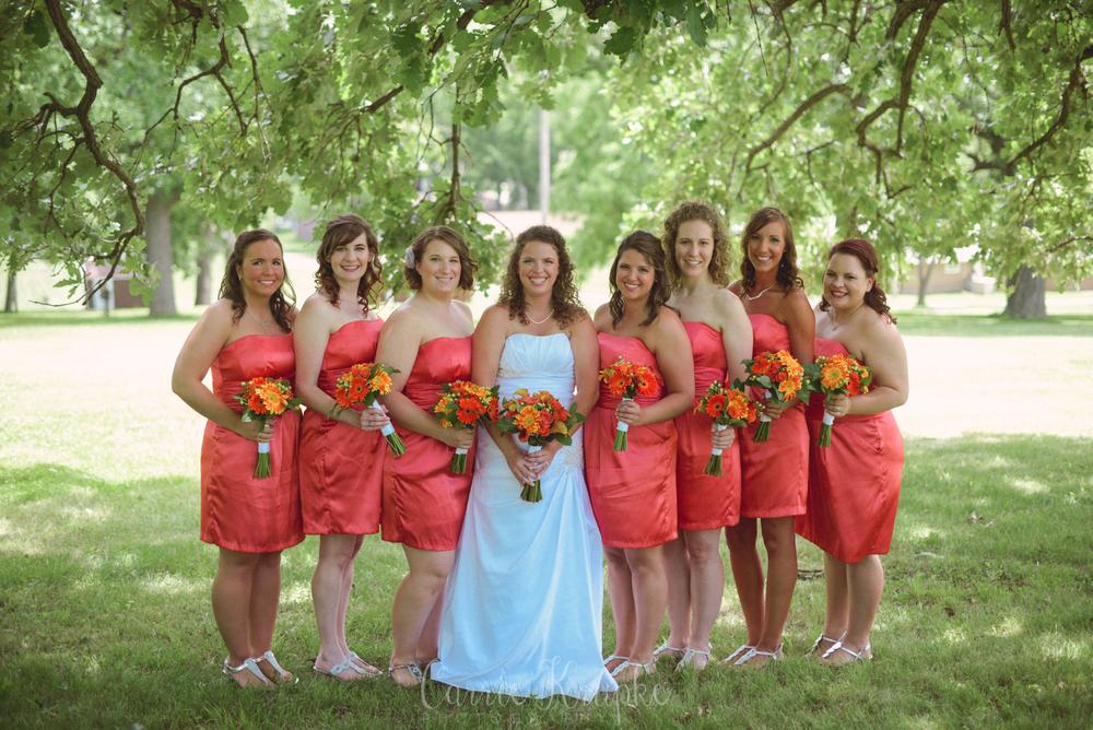 Des Moines summer wedding