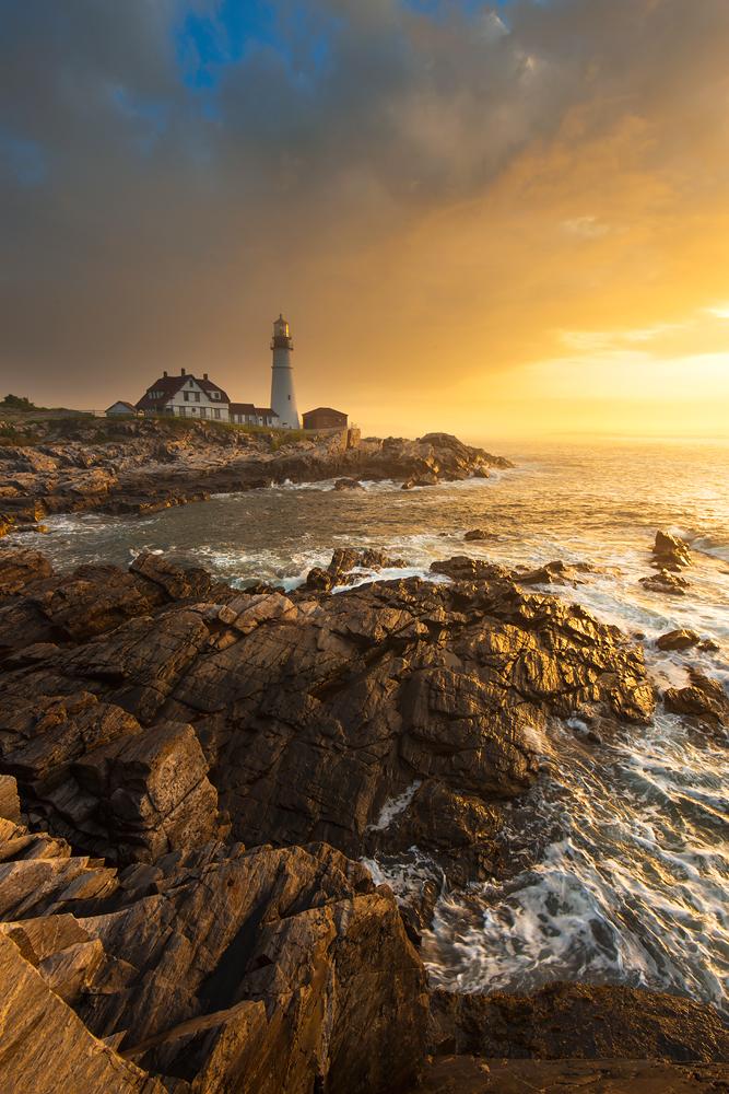Portland Head Light Sunrise, Cape Elizabeth, Maine