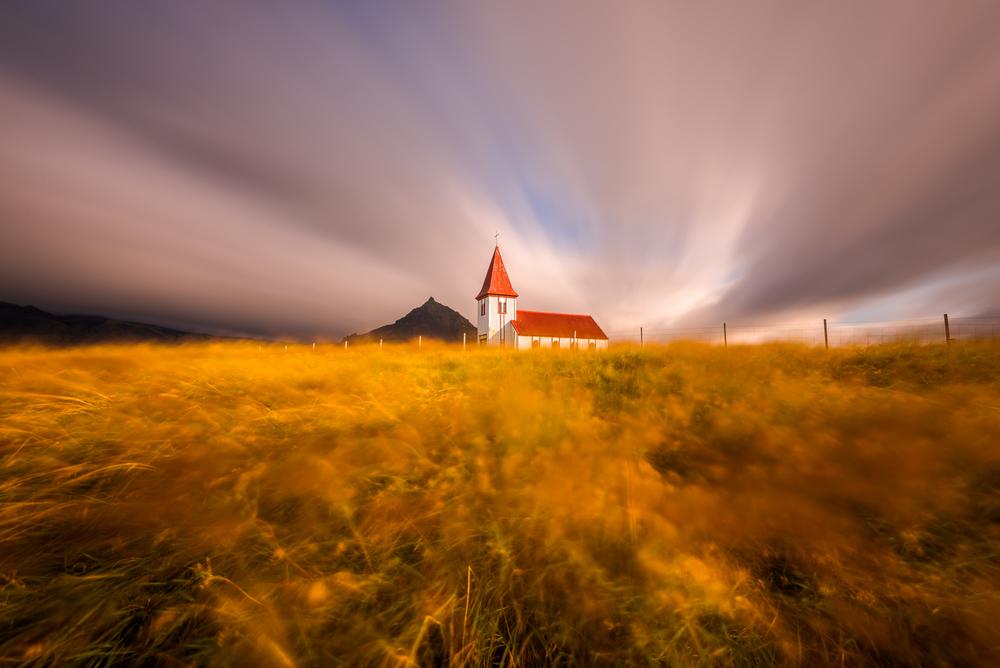 Church in Hellnar, Snæfellsnes Peninsula, Iceland
