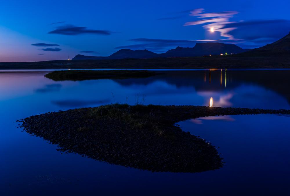 Moonrise nearOlafsvik, Snæfellsnes Peninsula, Iceland
