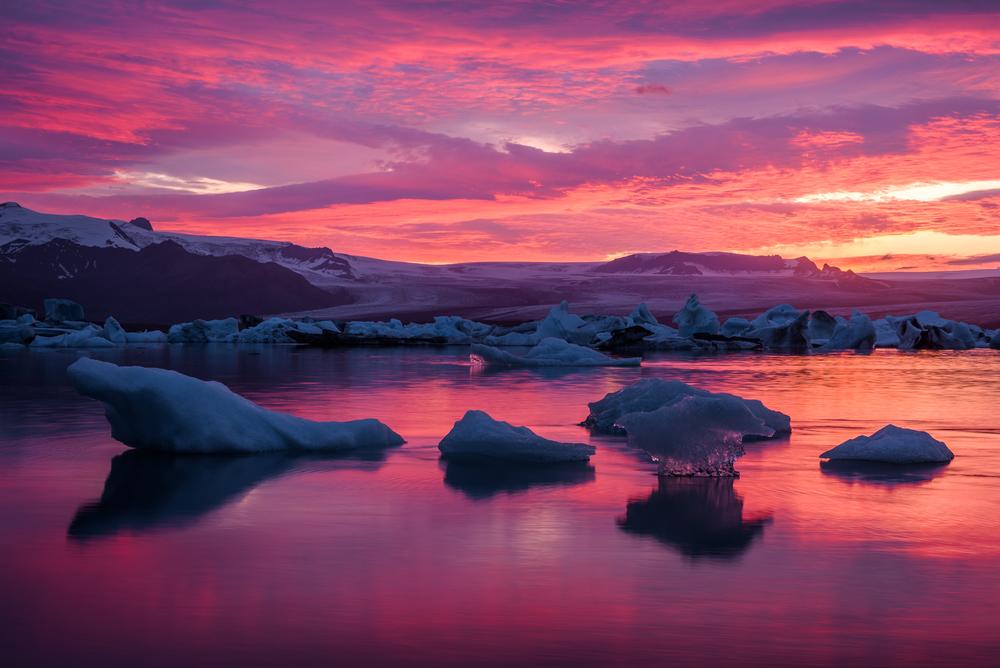 Fire & Ice,Jokulsarlon Lagoon,Iceland
