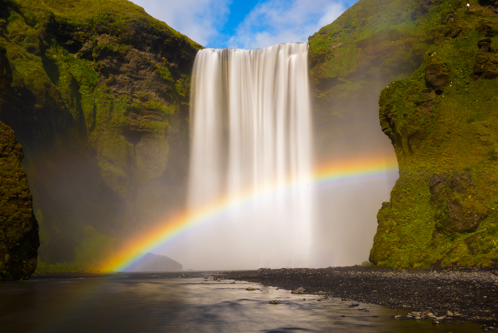 Rainbow Falls, Skogafoss, South Iceland