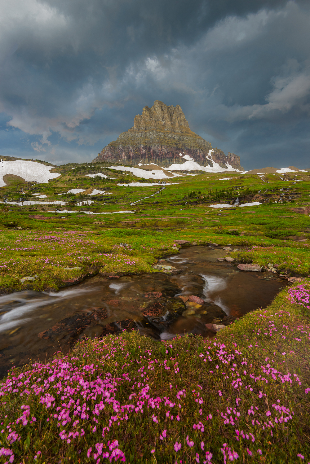 Approaching Storm & Clements Mountain, Glacier National Park, Montana Nikon D800, 14-24mm, 1/4 second, F11, ISO 200