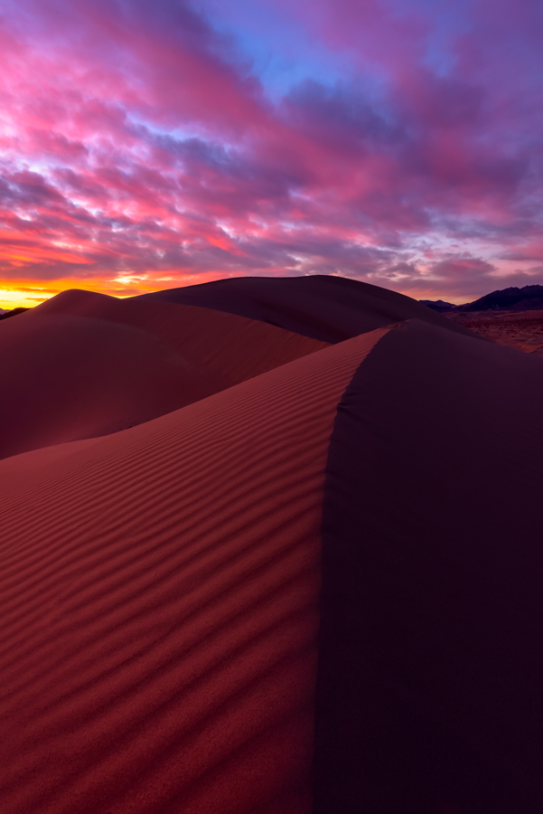 Ibex Dunes at sunset, Death Valley National Park, CA