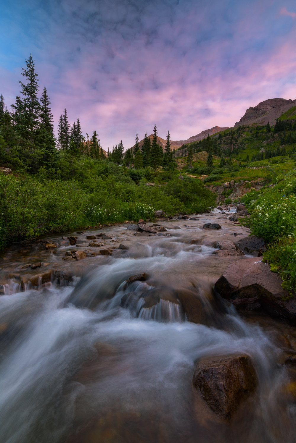 Sneffels Creek, Yankee Boy Basin, Colorado