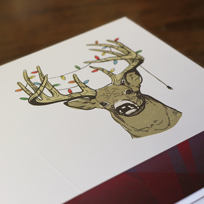 "Design Cabin ""Holideer"" Greeting Cards"