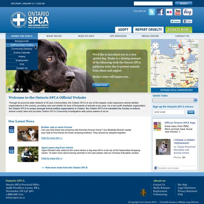 Ontario SPCA Provincial Website