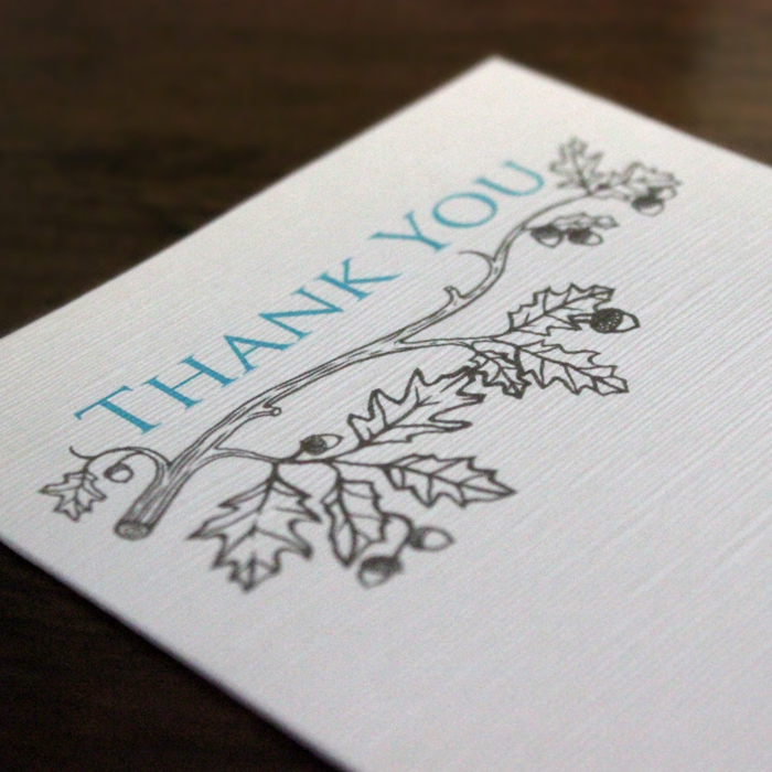 Custom Illustrated Thank You Cards