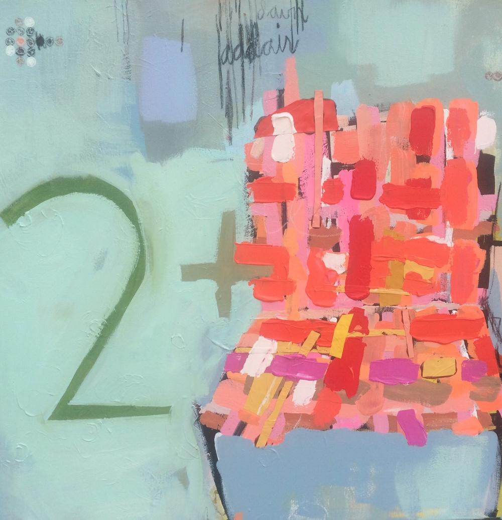Notice. Acrylic on canvas