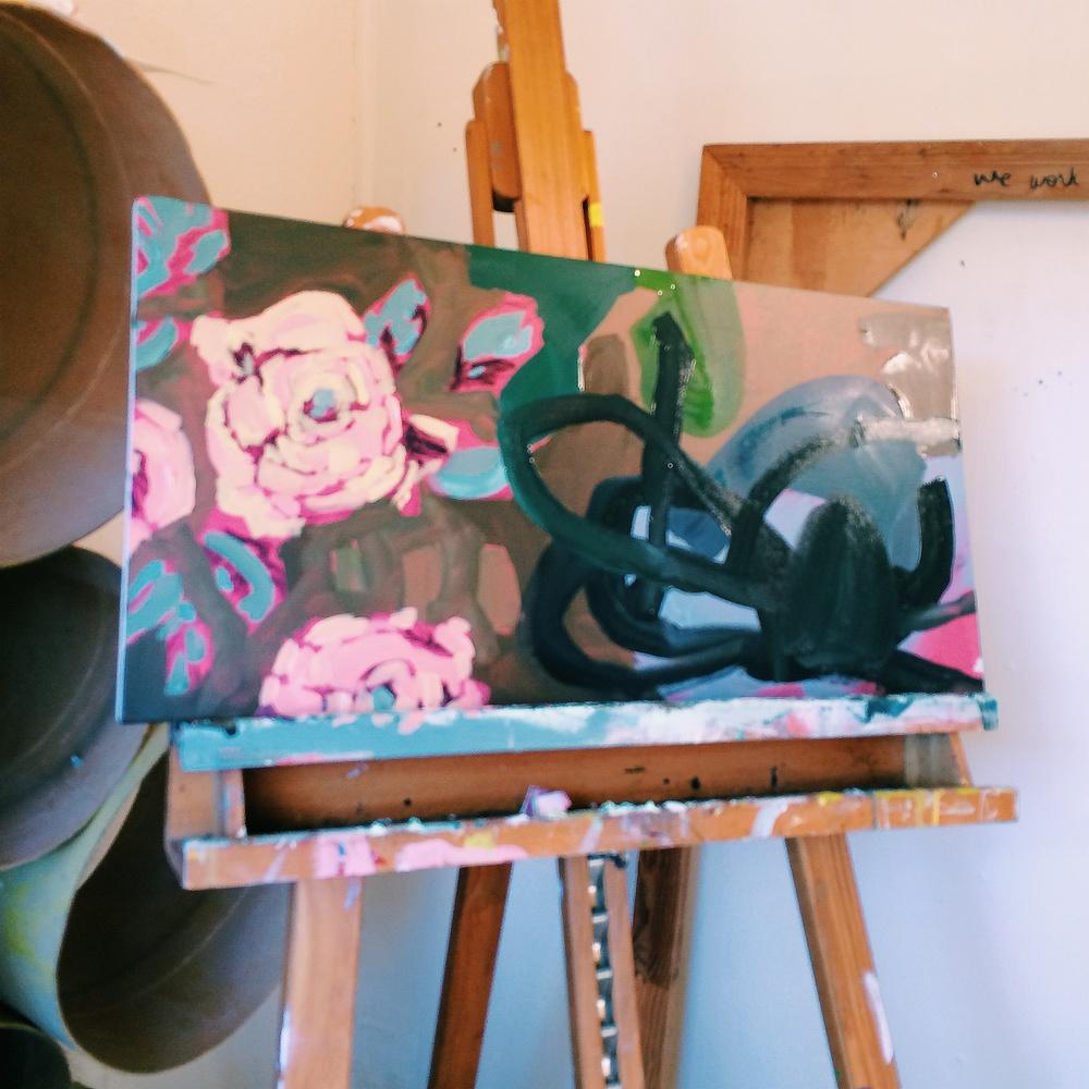 In progress at the studio