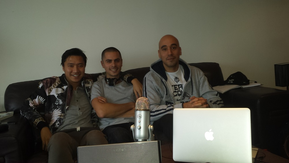 Team Renaissance: Anh, Gui and Fran on the Podcast for this one
