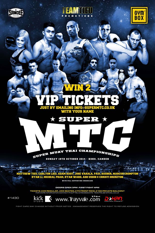 Podcast 31: Super MTC - Aftermath with Team Tieu    Team Tieu join the Podcast to talk about their reactions and views on the epic fights at the last MTC show.  We talk about the 8 A-class fights, the 6 international fights and the 3 title fights including the eagerly awaited title fight between Team Tieu's Carlton Lieu and Charlie Boy Peters   Click on image for podcast