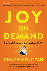 Podcast 54: Joy on Demand with Chade-Meng Tan.    Chade is almost single handedly responsible for introducing mindfulness corporate-wide at Google, where he worked as an engineer before his role change in order to focus on bringing joy to employees.  this led him to meet some of the most influential people in the wold from President Obama to his Holiness, the Dalai lama      Click on image for podcast