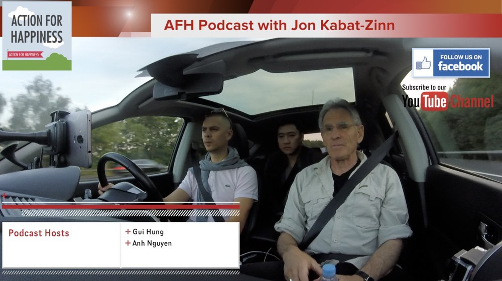 Podcast 60: Carpool podcast with Jon Kabat-Zinn, London 2017    It's not everyday that you get to deep dive into Mindfulness topics with the amazing Jon Kabat-Zinn. Anh and I have been loving Mindfulness since we began the podcast 5 years ago and we have so many questions that we wanted to discuss and ask.  We talk social media, mindfulness in Government, black and white squares and 2018.