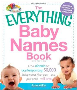 Everything baby names book