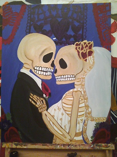 Skeleton wedding
