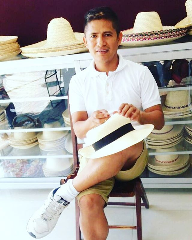 Meet the Artist: Modesto. Modesto's family has been part of the #PanamaHat making tradition for 100s of years. One of his fave foods is ice cream & his fave place in Ecuador is the Manabi Region!