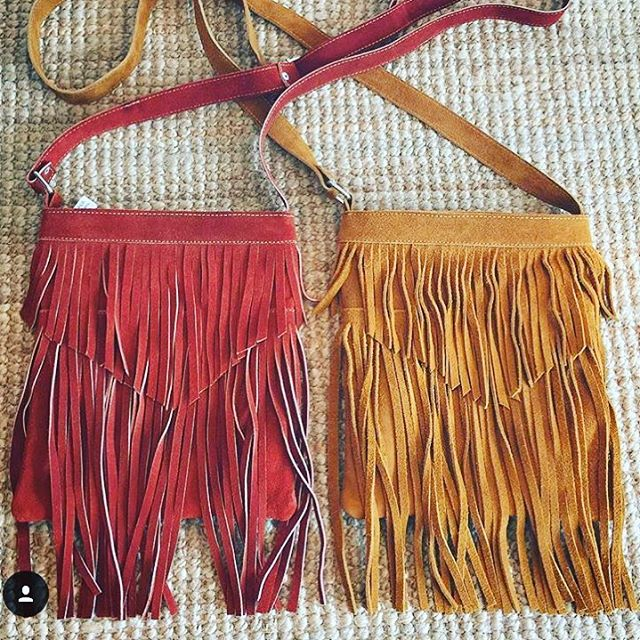 Scoop up our fringe bags @opalandgold! We love working with fellow KC companies. ❤️