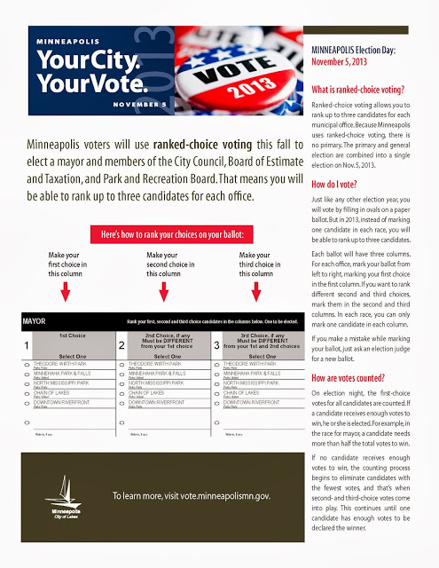 Minneapolis Ranked Choice One-Sheet.