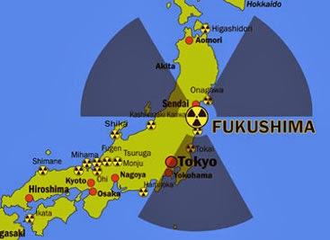 Fukushima. Affected areas of Japan.