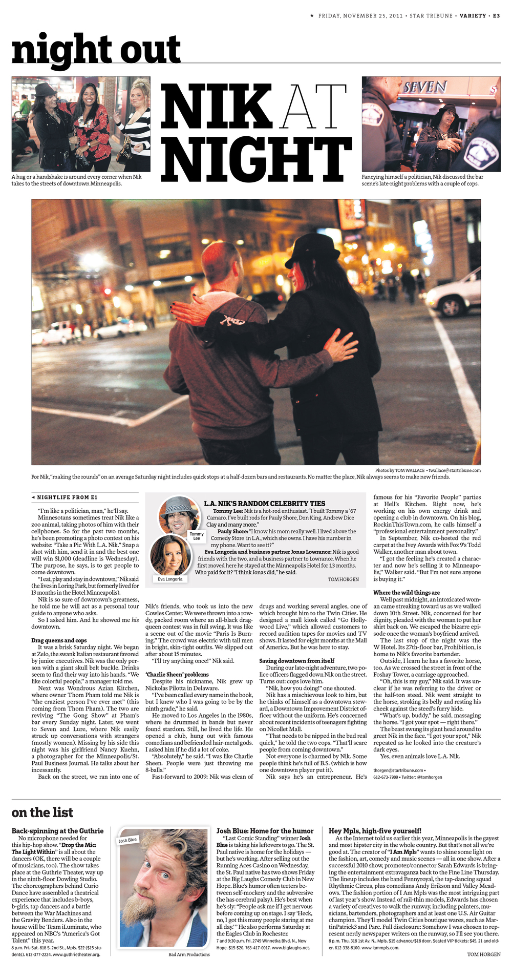 Star Tribune Cover Story - Black Friday 2011