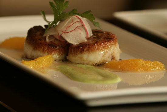 Seared Seafood Scallops. Chef John Mullen.