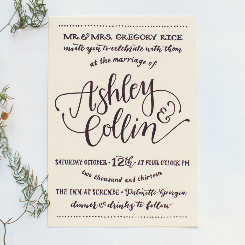All By Hand | Invite