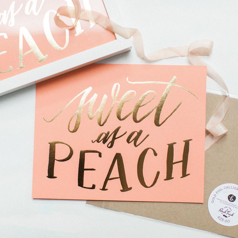 Sweet As A Peach | Art Print