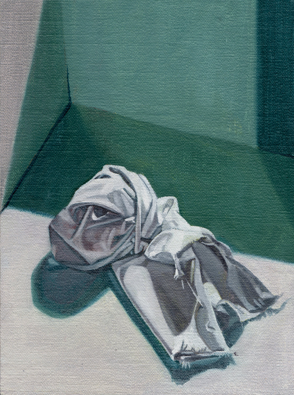 The Hospice (Blue), 2014  oil on linen,  8 x 6in.