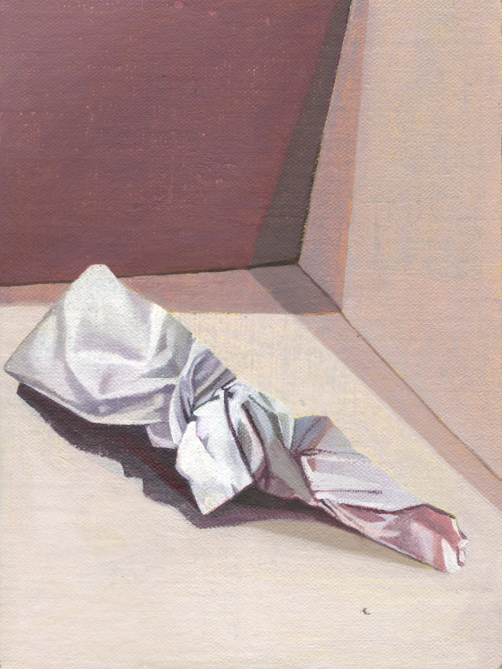 The Hospice (Purple), 2014  oil on linen,  8 x 6in.