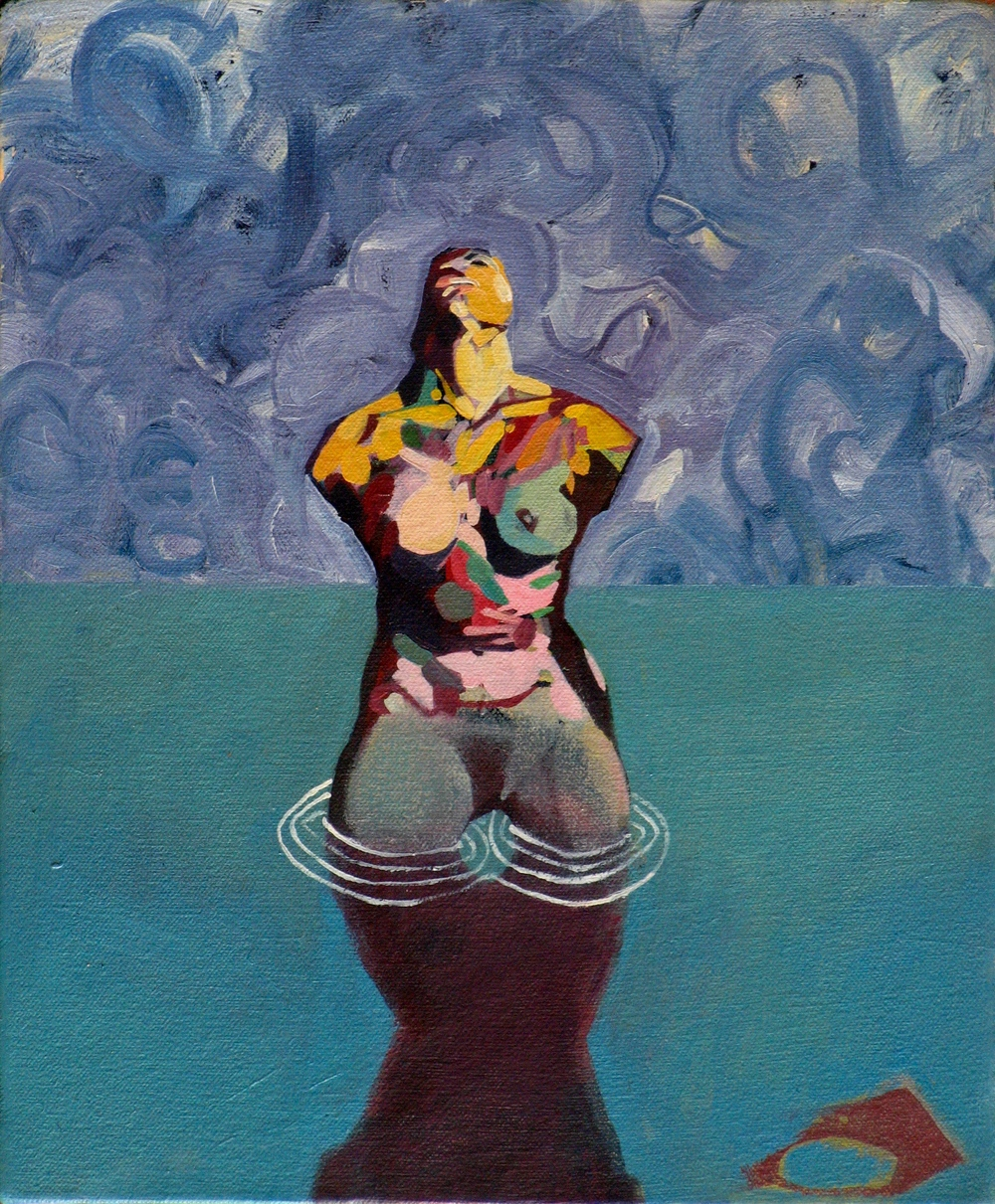 The Bather, 2011, oil on canvas, 12 x 10in.