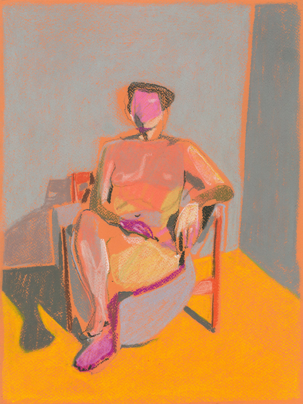 Figure 2, 2017, pastel, 16 x 12in, SOLD  Available from  Partnership Editions