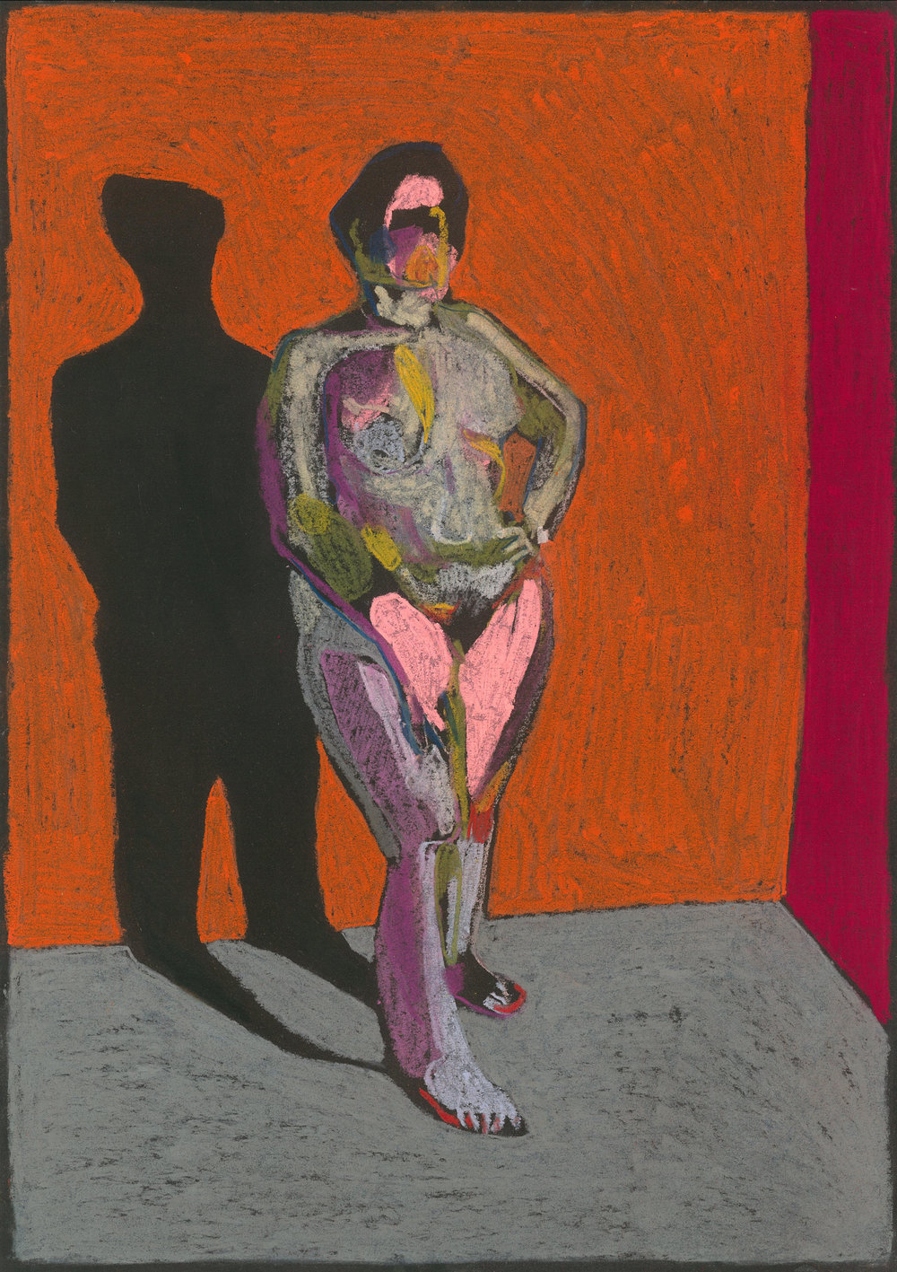 Figure 4, 2017, pastel on paper, 42 x 29.7cm.